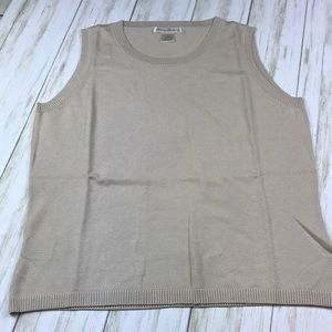 NWOT Tommy Bahama Silk Taupe Tank Top